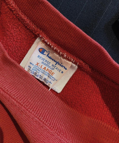 【USED】80's USA Champion Reverse Weave Sweat One Point /210210-036