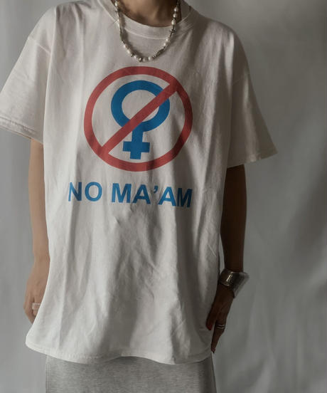 "【USED】 S/S T-shirt ""NO MA'AM""/210801-025"