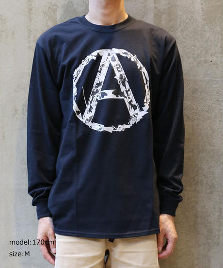 [montage] 森別注  Anarchy LS T-shirt (Black)