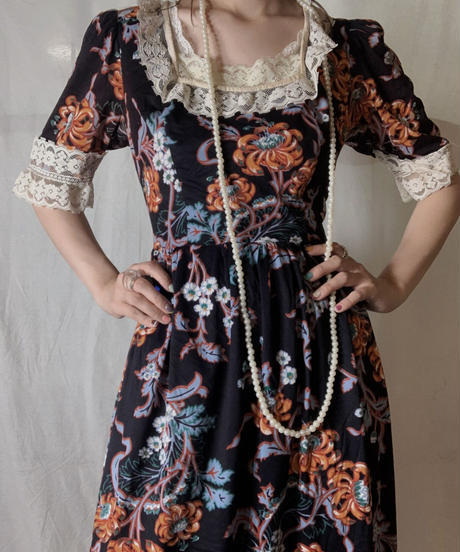 【USED】 EURO Poly Flower Patterned S/S Dress/210714-035