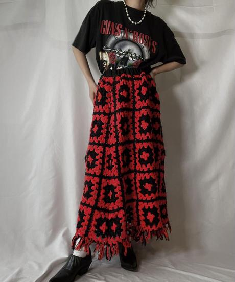 【RE;CIRCLE】 RE Granny Knit Long Skirt①/210917-003