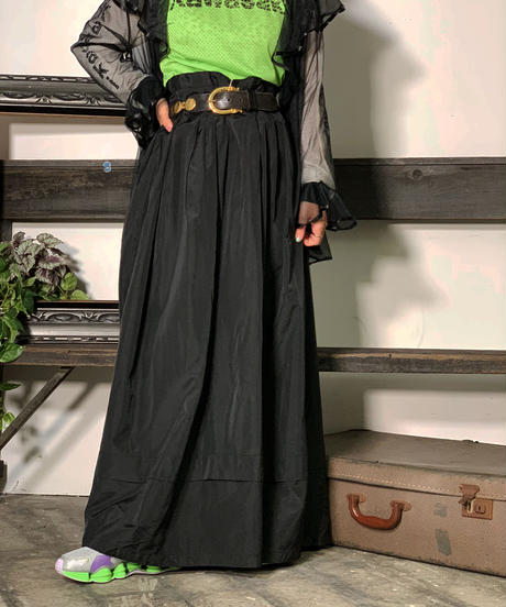 【Used】Black  Long skirt/ 201008-006