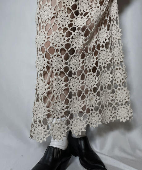 【RE;CIRCLE】 RE Granny Knit×Lace N/S One-piece①/210917-008