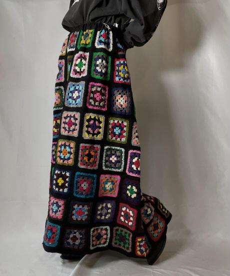 【RE;CIRCLE】 RE Granny Knit Long Skirt②/210917-004