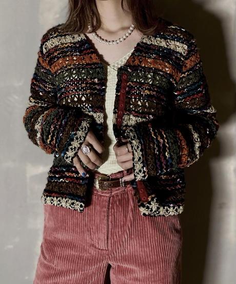 【USED】 Knit Cardigan  / 201204-018