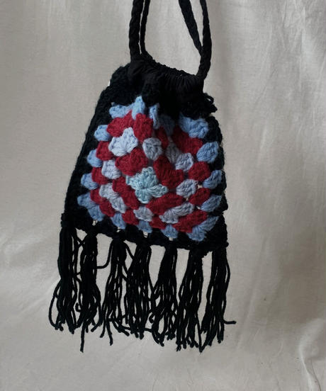 【RE;CIRCLE】 Granny Knit Pouch① /210404-004