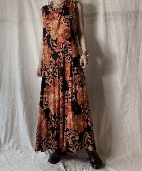 【USED】 Flower Patterned N/S One-piece/210714-036