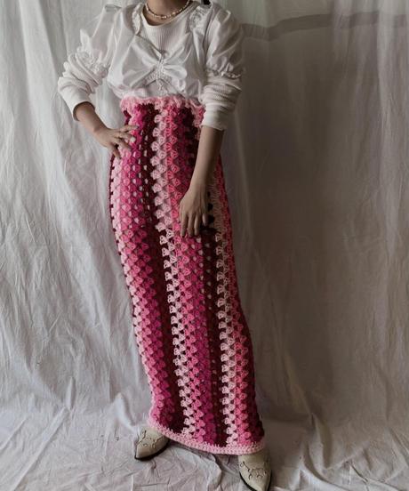 【RE;CIRCLE】 Remake Granny Knit Skirt/210317-014