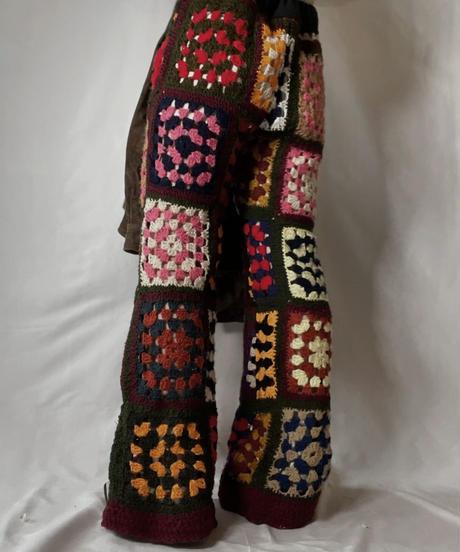 【RE;CIRCLE】 RE Granny Knit Pants/210917-002