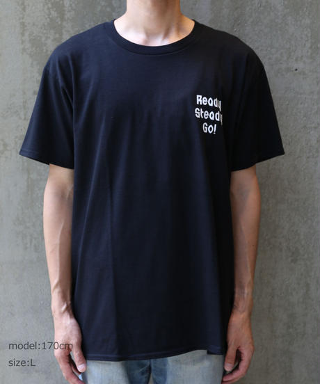 [READY STEADY GO] S/S BACK PRINT T-SHIRT (BLACK)