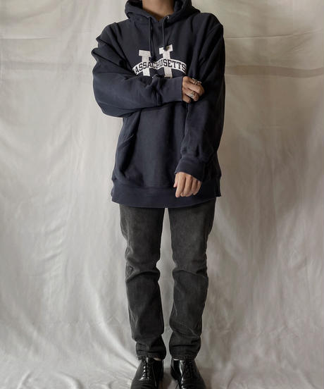 【USED】  Champion Reverse Weave Hoodie MASSACHUSETTS/210902-043