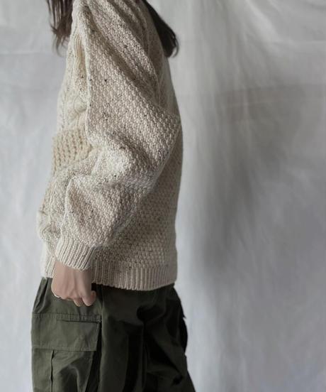 【RE;CIRCLE】 RE Alan Knit Patch Work Top①/211008-015