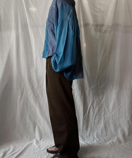 【RE;CIRCLE】 RE Silk Wide Shirt/210613-001