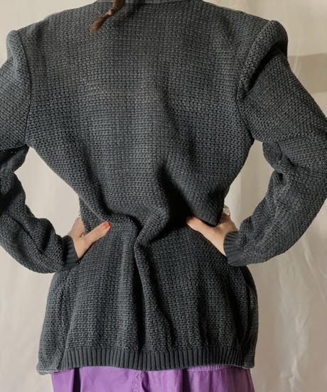 【USED】 Knit × Cotton Jacket/210708-003