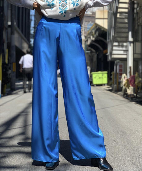 【Used】Satin  Flare  Pants  /200908-007
