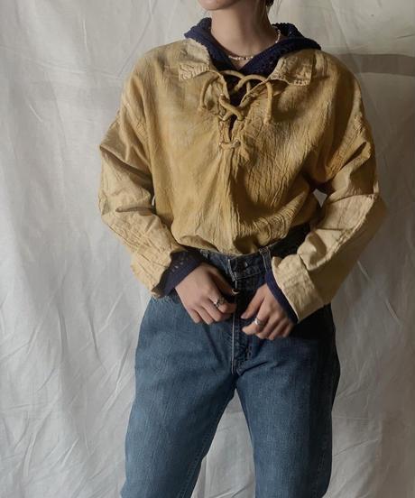 【RE;CIRCLE】Tie Dye Dyeing  Mexican shirt③ /210226-009