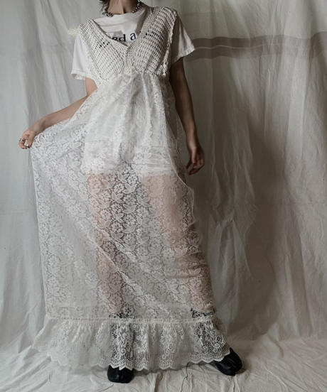 【RE;CIRCLE】 RE Lace N/S One-piece④/210714-008