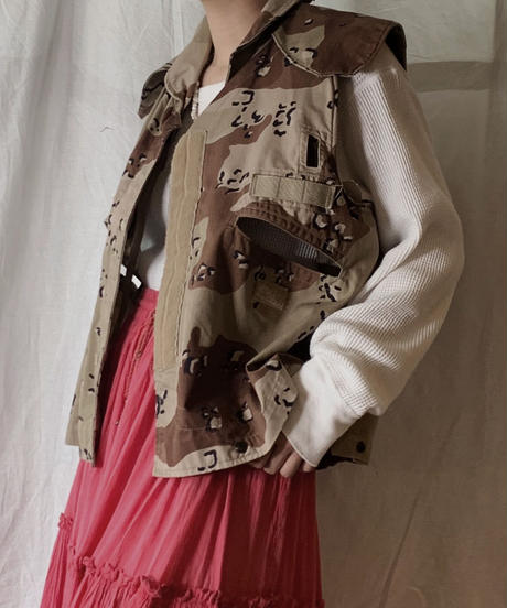 【USED】Camouflage Pattarned Amy Vest/210331-025