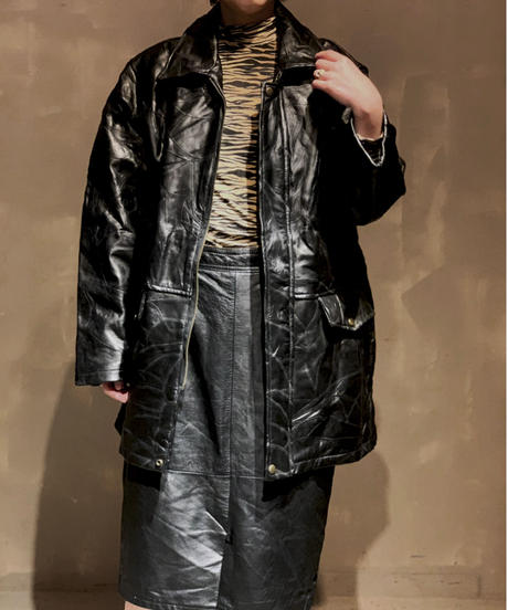 【USED】Leather Jacket / 201104-014