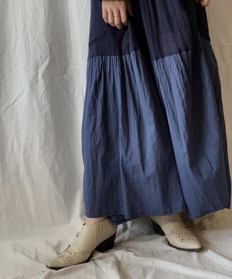 【RE;CIRCLE】 Remake Indy Cotton MUJI one-piece③/210331-003