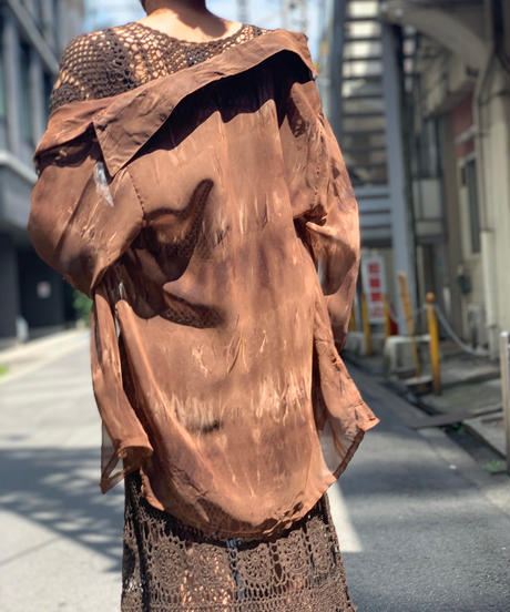 【Used】 L/S  See-through  Dyed Shirt  /200901-015