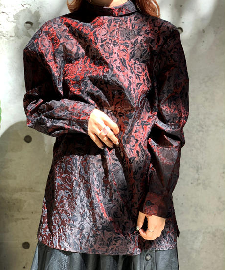 【Used】L/S  Velor See-Though Shirt  /201001-022