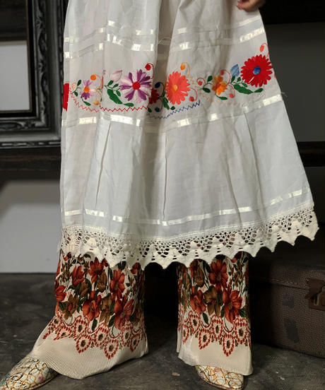【Used】Mexcan Embroidery One-Piece  /201008-001