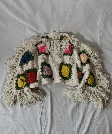 【RE;CIRCLE】 Short Sleeve Granny Knit Top① /210404-001