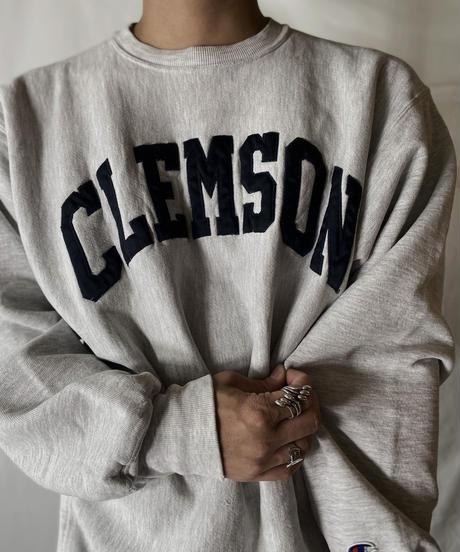 【USED】  90's MEXICO Champion Reverse Weave Sweat CLEMSON/210902-027