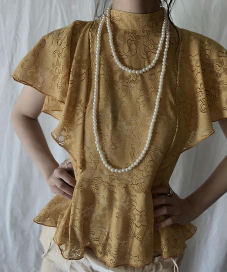 【RE;CIRCLE】 RE Lace N/S Top/210714-015