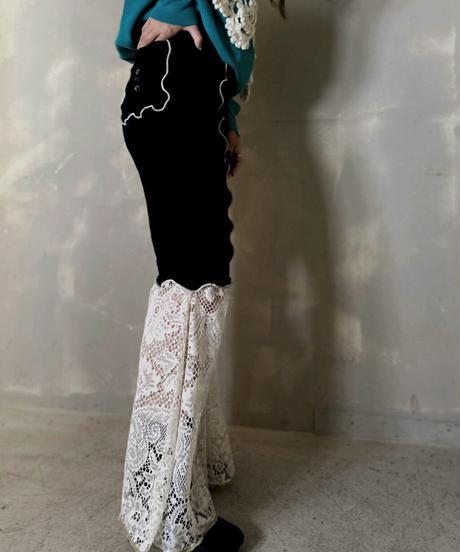 【RE;CIRCLE】Mellow Spandex × Lace Pants 2 / 201103-012