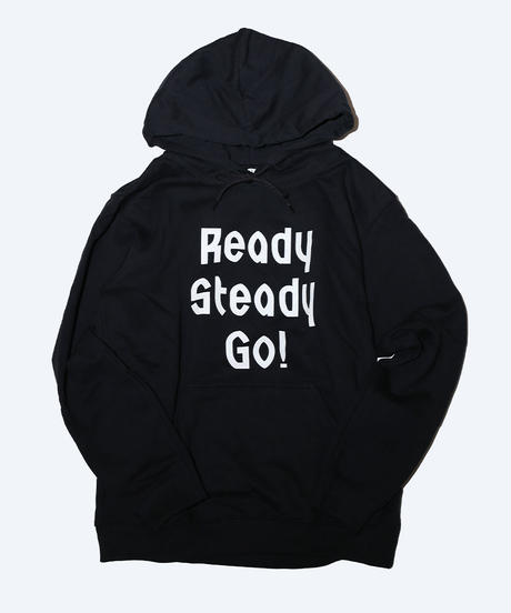 [READY STEADY GO]  Logo Hoody (Black/White)