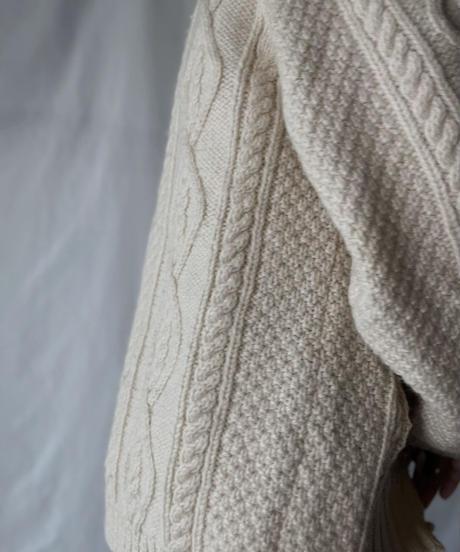 【RE;CIRCLE】 RE Alan Knit Patch Work Top③/211008-022