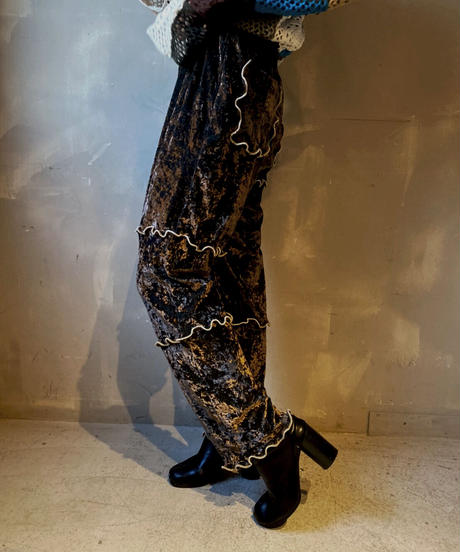 【RE;CIRCLE】Mellow Velor Lace Pants 4  / 201103-017