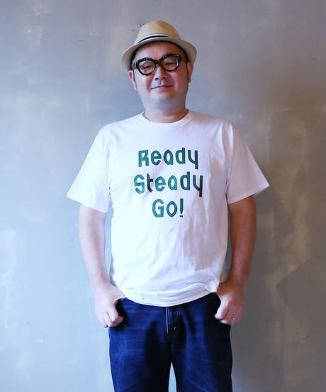 [READY STEADY GO] S/S T-SHIRT (WHITE/GREEN)