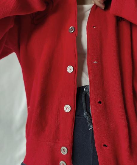 【USED】   THE FOX Acrylic Knit Cardigan/210930-021