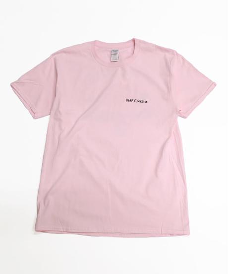 5el × 森 Short sleeve T-shirt (Pink)