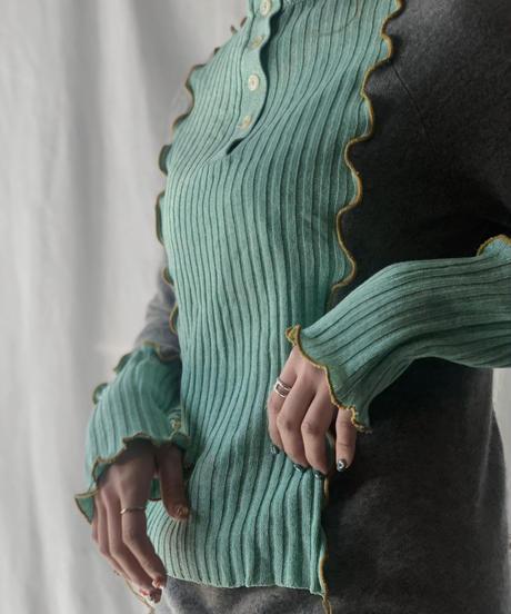 【RE;CIRCLE】 Mellow Rib Knit Sweater ① /210203-040