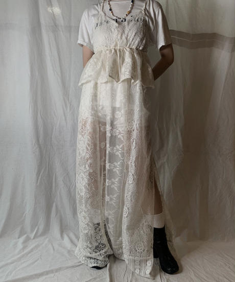 【RE;CIRCLE】 RE Lace N/S One-piece③/210714-006