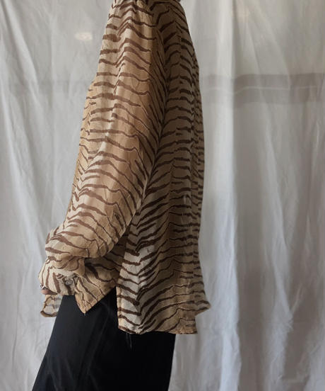 【USED】 Zebra Patterned See-through Top/210714-022