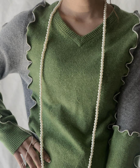 【RE;CIRCLE】 Mellow cashmere Knit Sweater ② /210203-041
