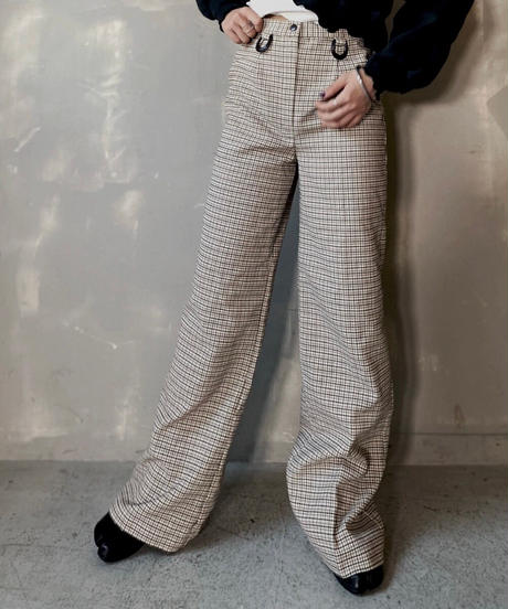 【USED】 Check Flared Pants ② / 201112-030
