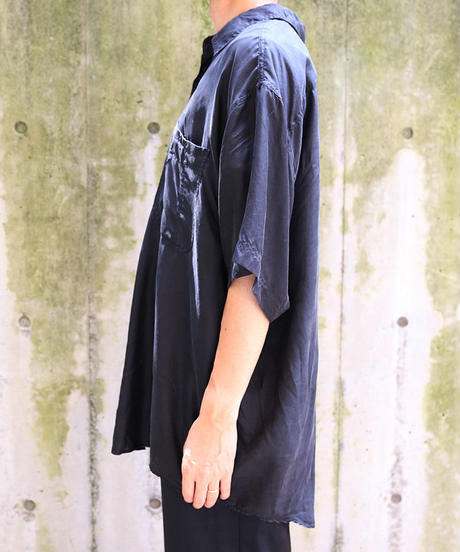 [USED] SILK SHIRT (BLACK1)