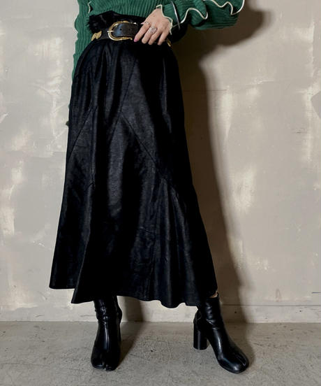 【USED】 Suede Long Skirt / 201125-003