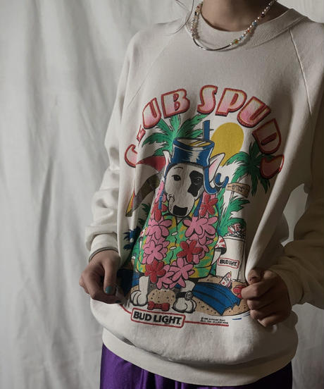 【USED】  CLUB SPUDS BUD LIGHT Sweat /210310-017