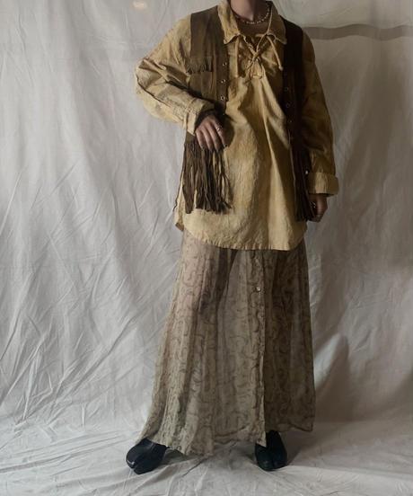 【RE;CIRCLE】Tie Dye Dyeing  Mexican shirt② /210226-008