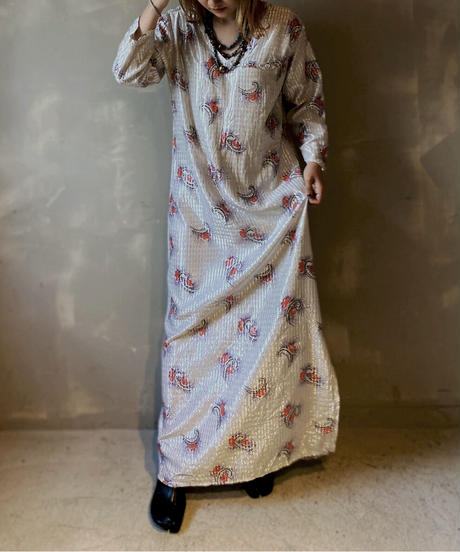 【USED】L/S Pattern Dress / 201104-030