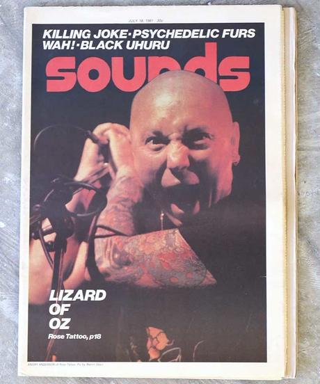 sounds magazine(july/18/1981:表紙 ROSE TATOO)