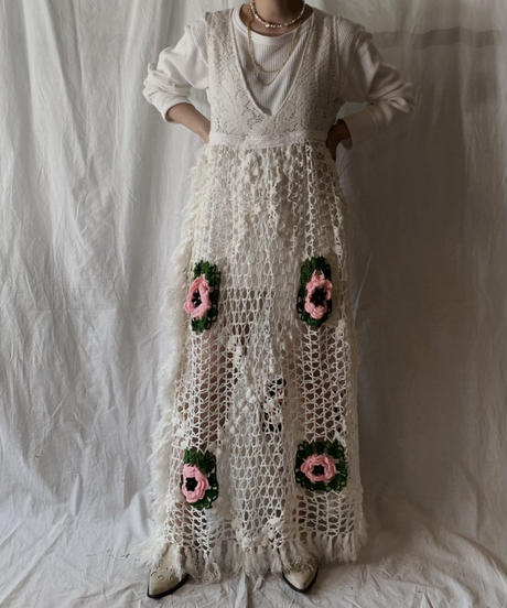 【RE;CIRCLE】 Remake Granny Knit N/S One-piece②/210331-012
