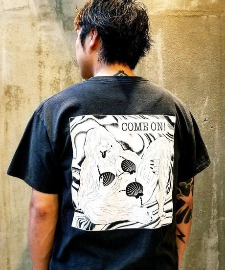 Ken Hamaguchi COLOR T-SHIRT (BLACKxWHITE)